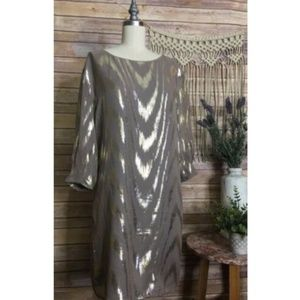 GB Gianni Bini Womens Metallic Silk Blend Dress